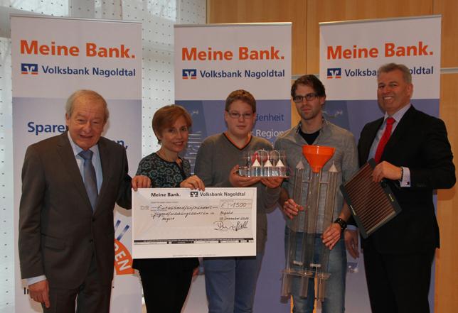 Volksbank Nagoldtal spendet 1500 Euro
